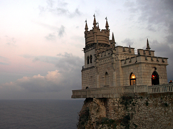The Swallows Nest castle in Livadia, Ukraine